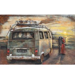 Eliassen 3d painting metal VW bus 1 80x120cm