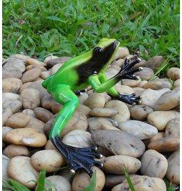 Eliassen Bronze Skulptur Regenwald Frosch grün