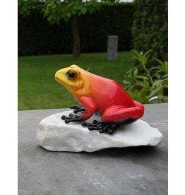 Eliassen Stone statue red frog
