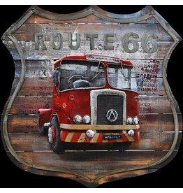 Eliassen goose 3d painting 100x100cm American truck