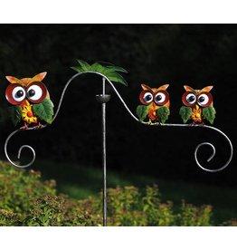 Eliassen Garden stick balance owls