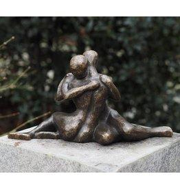 Eliassen Bronzestatue Moderne verliebte Paar