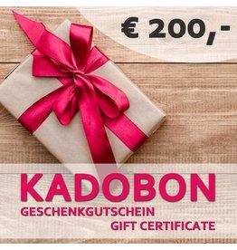 Kadobon 200 euro
