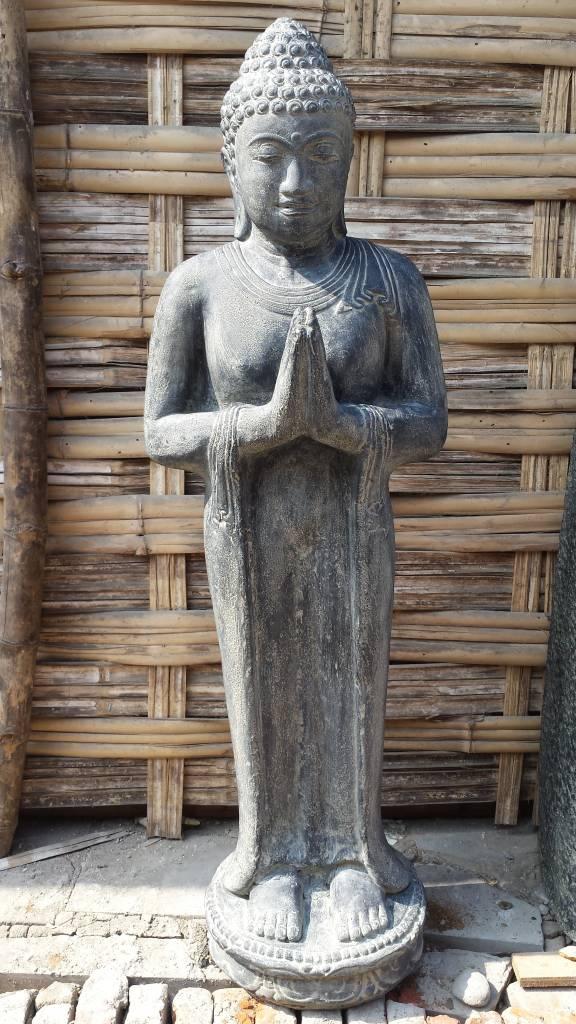 Boeddha Beeld Beton.Boeddha Beeld Staand Groetend In 5 Maten