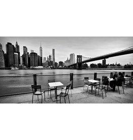 Eliassen Glasmalerei 160x80cm Terrasse unter Brücke