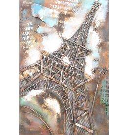 Eliassen Metaal schilderij Eiffeltoren 80 x120cm