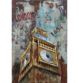 Eliassen Metaal schilderij Big Ben 80x120cm
