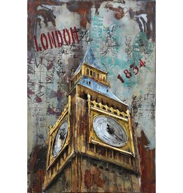 Eliassen Metal painting Big Ben 80x120cm
