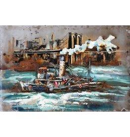 Eliassen Metaal schilderij Sleper 80x120cm