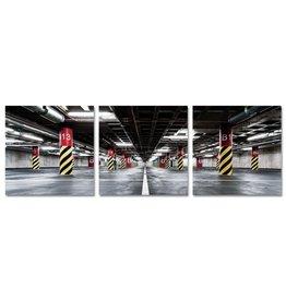 Eliassen Glasschilderij 80x80x0,4cm 3 Luik Garage