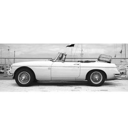 Eliassen Glasschilderij 160x60cm Witte cabrio