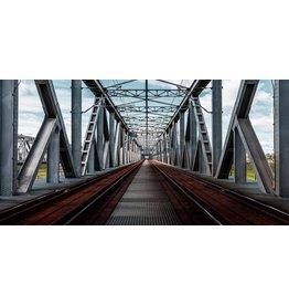 Eliassen Glasmalerei 160x80cm Eisenbahnbrücke