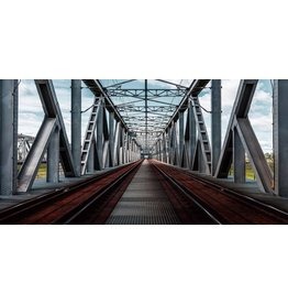 Eliassen Glass painting 160x80cm Railway bridge