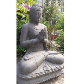 Eliassen Buddha statue on lotus saluting in 6 sizes