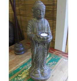 Eliassen Buddha statue standing candlestick
