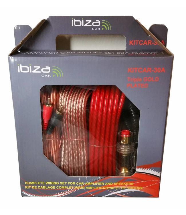 Ibiza Sound LT20-5000 booster aansluit set / kabel set 30Amp