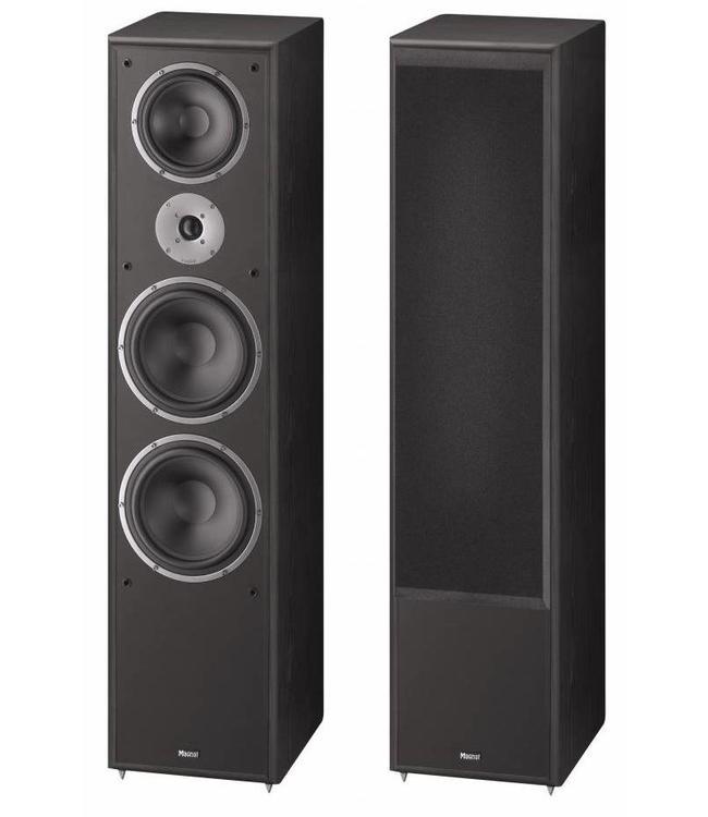 Magnat Monitor Supreme 2002 grote zware zuil luidspreker met veel vermogen en mooi geluid kleur zwart