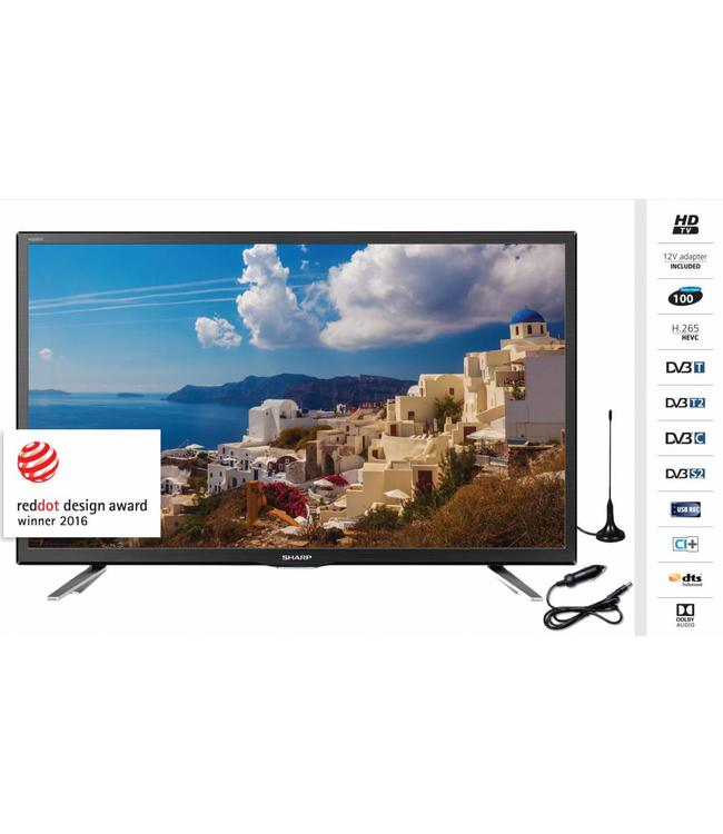 Sharp LC-24CHG5112EM led tv 61cm / 24inch •220 Volt en 12 Volt•