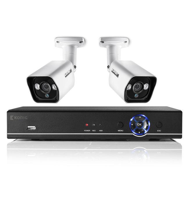 Konig SAS-AHDSET02 netwerk beveiligingscameraset voor binnen en buiten