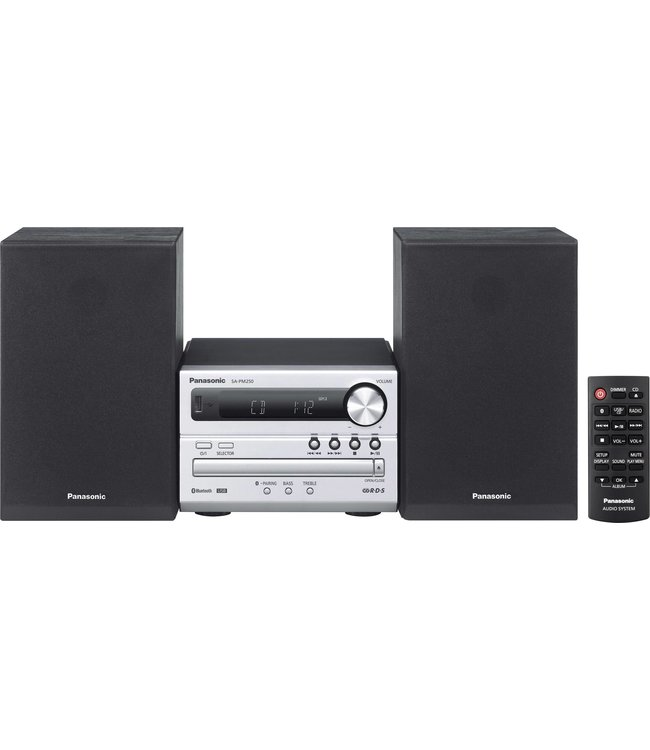 Panasonic SC-PM250EG-S stereoset cd, usb, bluetooth