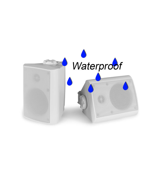 PD BGO40 luidsprekers voor binnen of buiten - wit