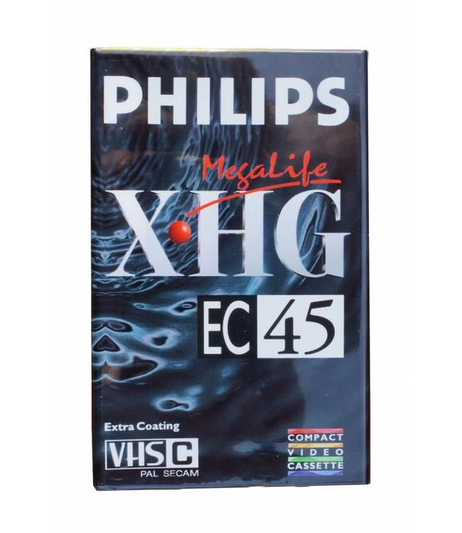 Philips VHS-C video camera bandjes (4pak)