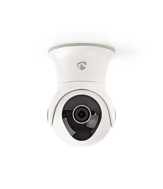 Nedis WIFICO20CWT | Bewakingscamera | Draaien/Kantelen | Full-HD 1080p | Buiten | Waterbestendig | Gratis APP