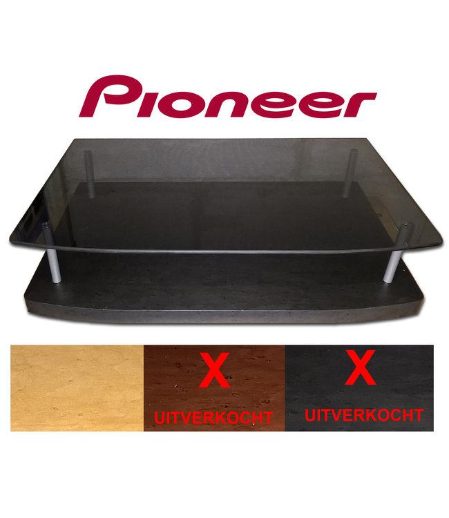 Pioneer Audio Rack | Mooi meubel van hout met glas | Opruiming: Licht hout/Beuken