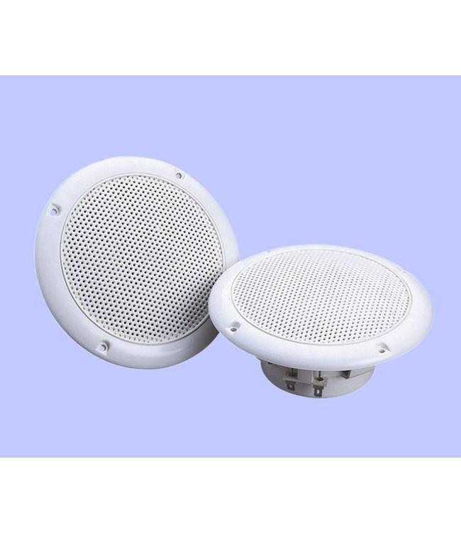Witte inbouw luidsprekers 100 Watt vochtbestendige speakers voor plafond, overkapping, terras, badkamer etc.