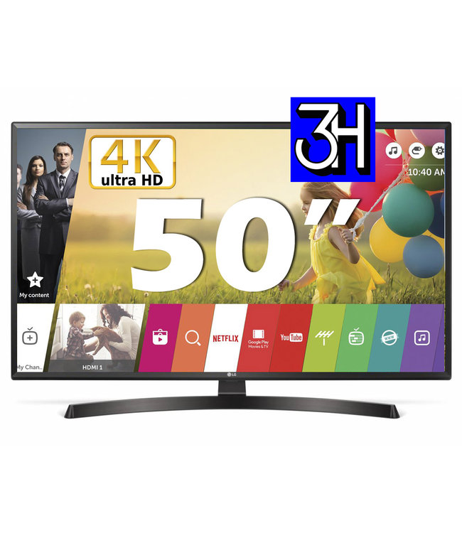 LG 50UM7450PLA | 4K ultra HD | Luxe Smart TV | 50inch / 127cm | Air Play | NL Model