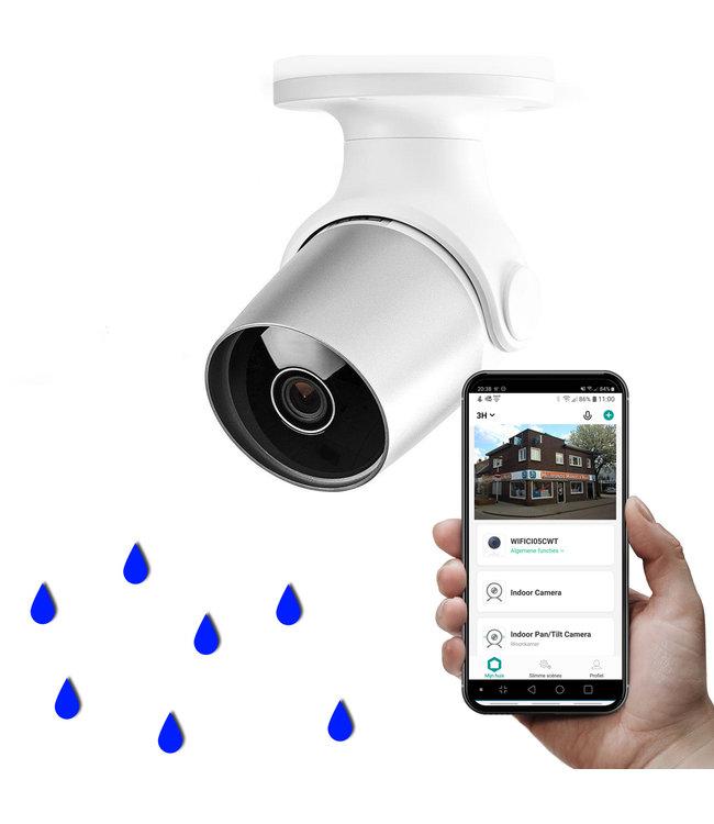Nedis WIFICO11CWT | Wifi Smart Bewakings-camera | Full-HD 1080p | Buiten | Waterbestendig | Gratis APP
