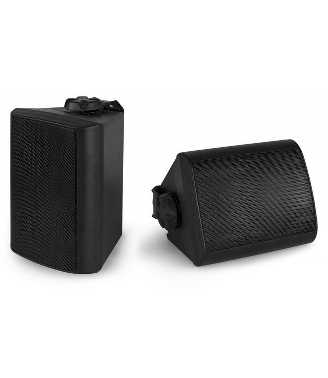 Power Dynamics BGB050 | Luidsprekers weersbestendig met ophangbeugels | Zwart | Ingebouwde versterker & Bluetooth
