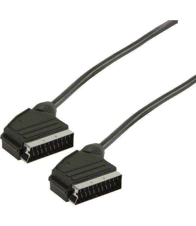 Scart 03LC | SCART Kabel | SCART Male - SCART Male | 1.50 m Zwart