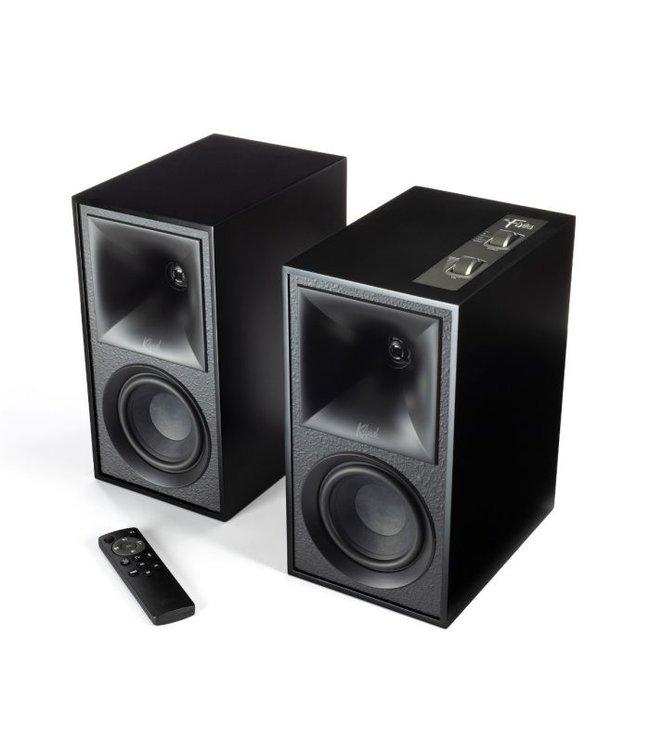 Klipsch The Fives boekenplank luidsprekers met versterker, HDMI, ARC, Optical en phono! Horen = Kopen
