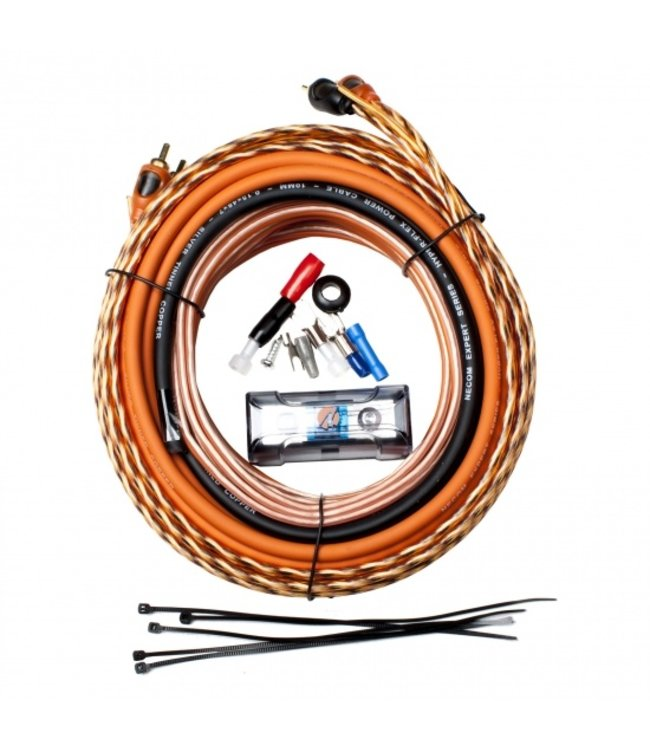 Necom CKJ-20 | Auto booster / versterker aansluitpakket |  Alle kabels | Extra zwaar | 2400 Watt