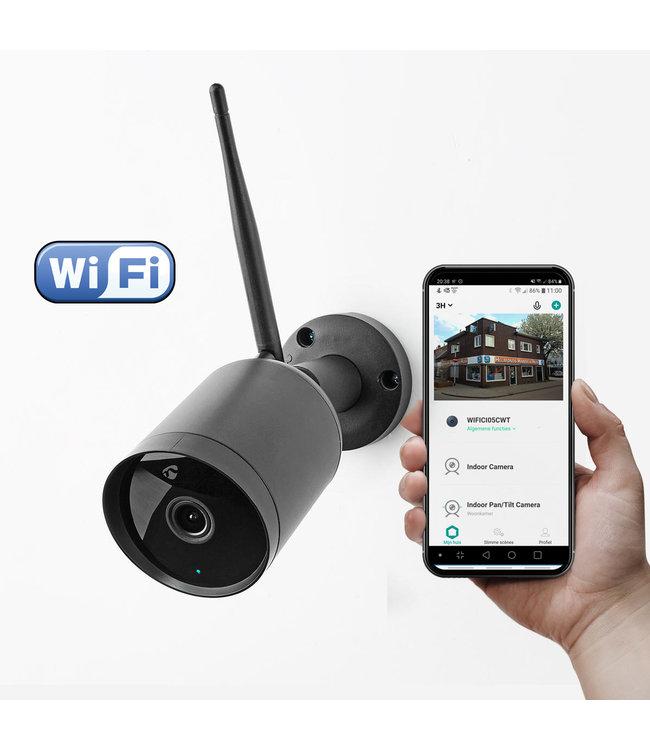 Nedis WIFICO40CBK | Wifi Smart Bewakings-camera | Full-HD 1080p | Buiten | Waterbestendig | Gratis APP | Zwart