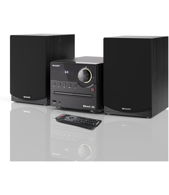 Sharp XL-B512(BK) stereoset met CD, USB, FM radio, bluetooth