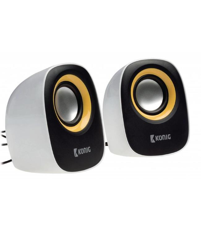 Actieve speakers met USB voeding, werken dus zonder batterijen op pc of laptop