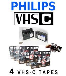 Philips VHS-C bandjes (4 Pak)