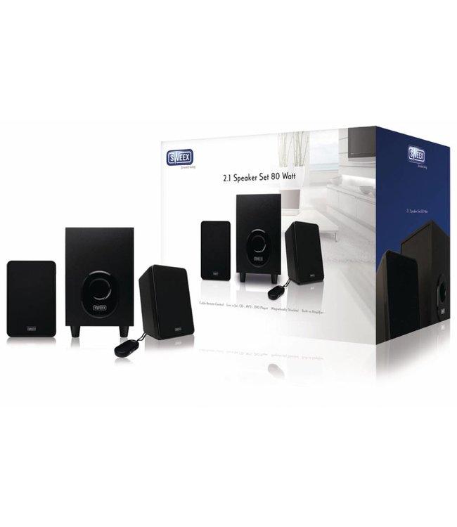 Sweex SP024 | Aktieve luidsprekers met subwoofer voor aansluiting op pc, laptop, tv, telefoon