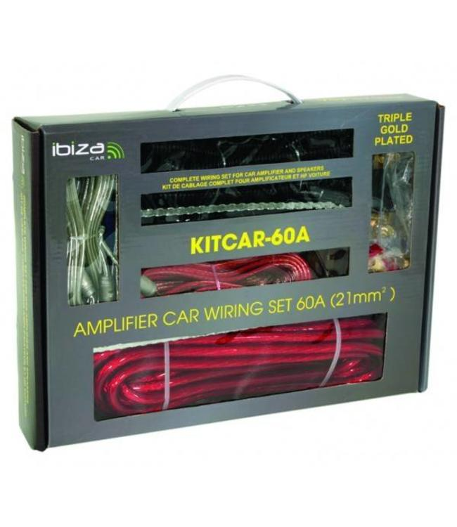Ibiza Sound KITCAR60A booster aansluit set / kabel set 60Amp