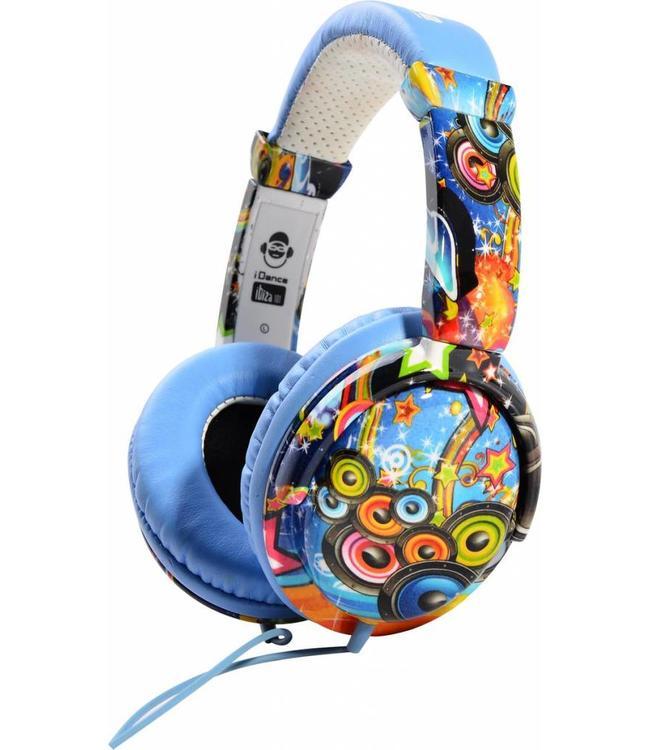 Ibiza 101 Blauwe koptelefoon met een goed geluid en microfoon voor handsfree bellen