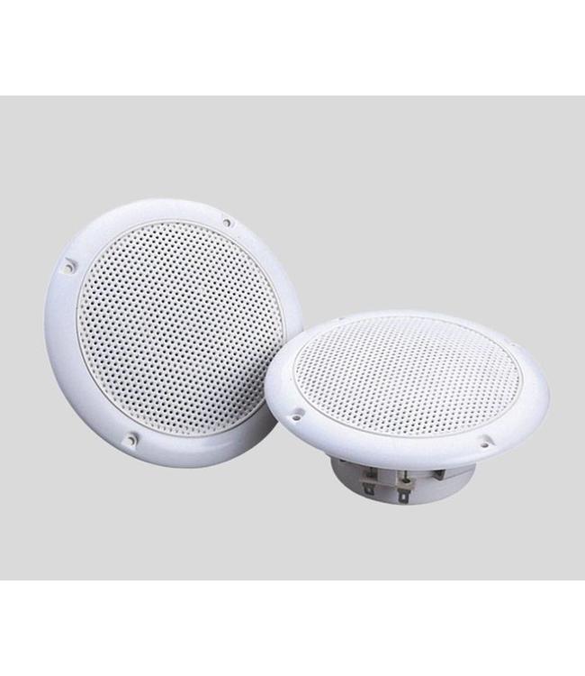 Witte inbouw luidsprekers 80 Watt waterbestendige speakers voor plafond, overkapping, terras, badkamer etc.