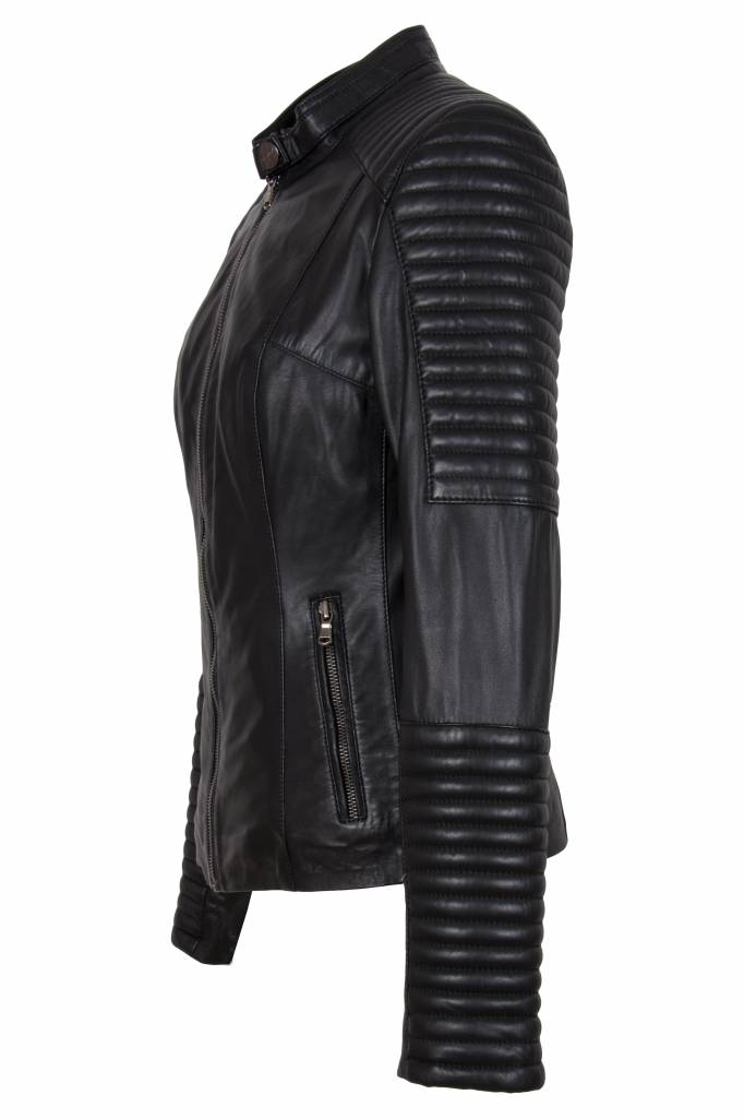 Leren Dames Jas Zwart.Dames Leren Jack Leather City