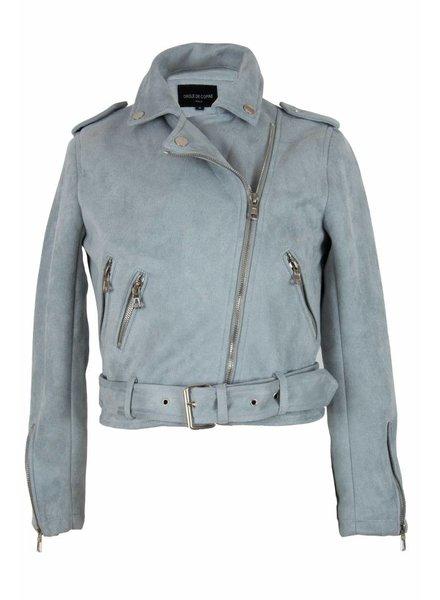 Attentif Dames swedine jas licht blauw