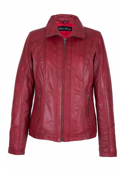 Carlo Sacchi Leren jassen dames 998s rood