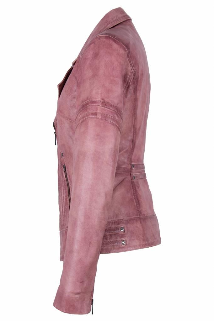 Carlo Sacchi Dames leren jas jane 5 pink