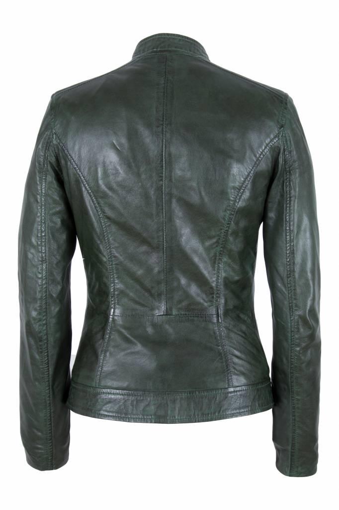 Groene Leren Jas Dames.Dames Groen Leren Jasje Leather City