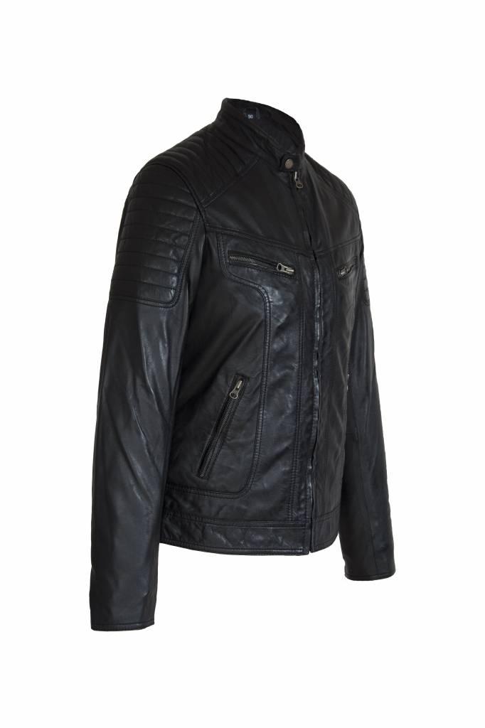Heren Leren jas Ryan zwart