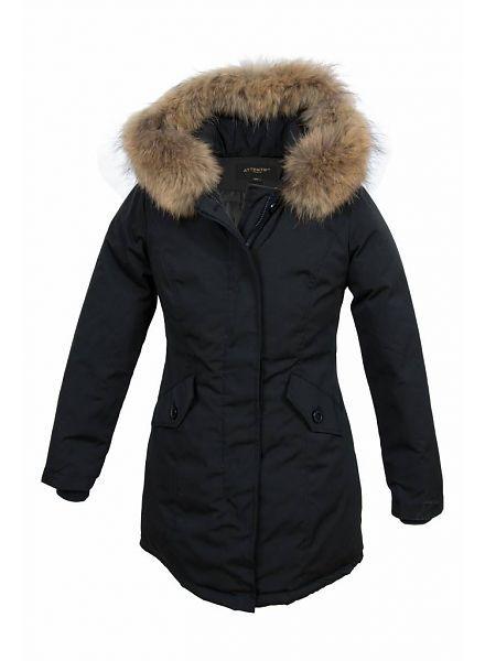 Attentif Parka winterjas zwart voor Kinderen